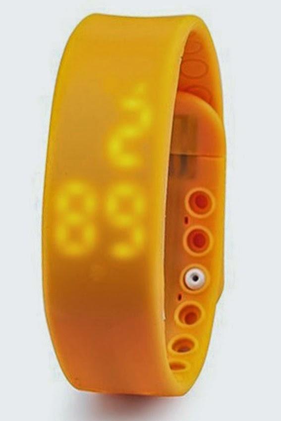 Đồng hồ thông minh dây Silicon ALAMODE PARIS green màu đen