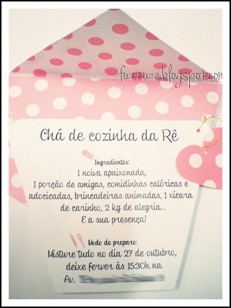 Fuzzu Setembro 2012 ~ Convite Cha De Cozinha Xicara