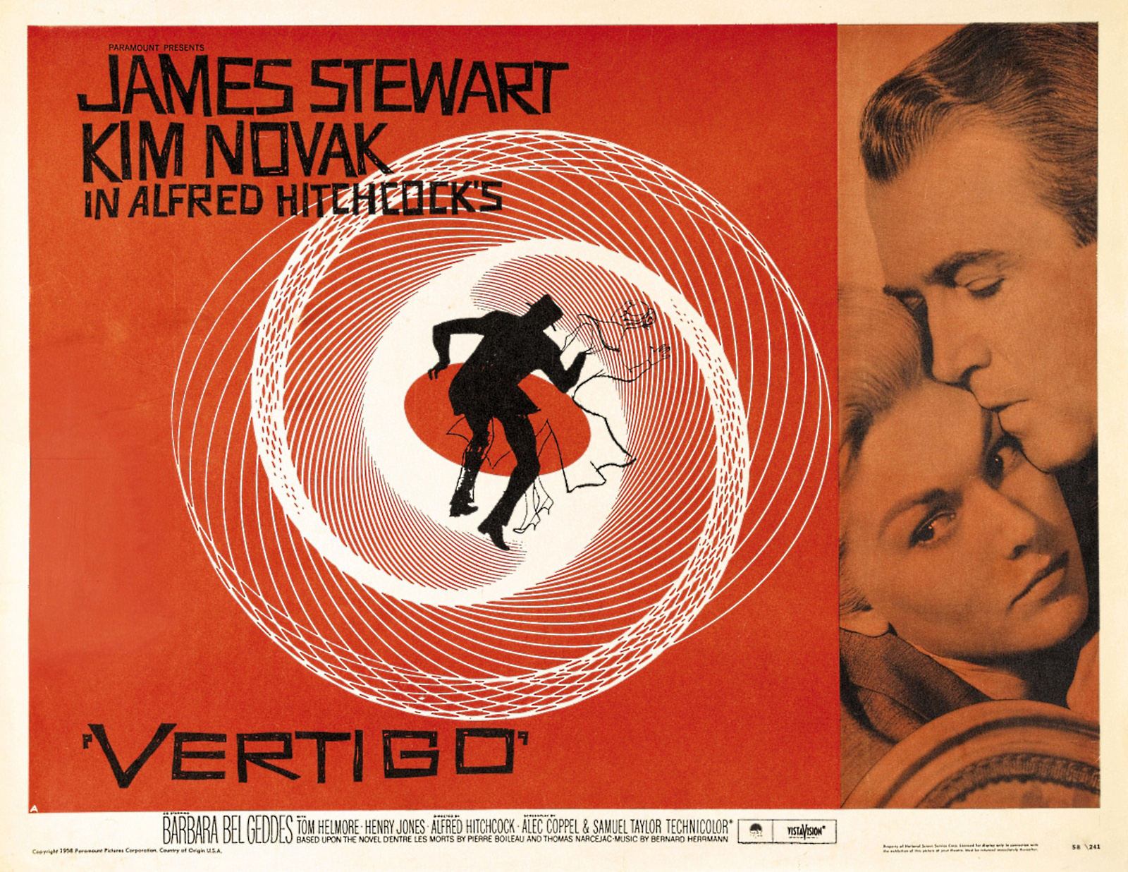 "vertigo 1958 #9 ""vertigo"" could be the greatest film from an absolute legend, who has already  dominated the list with three prior appearances hitchcock's."
