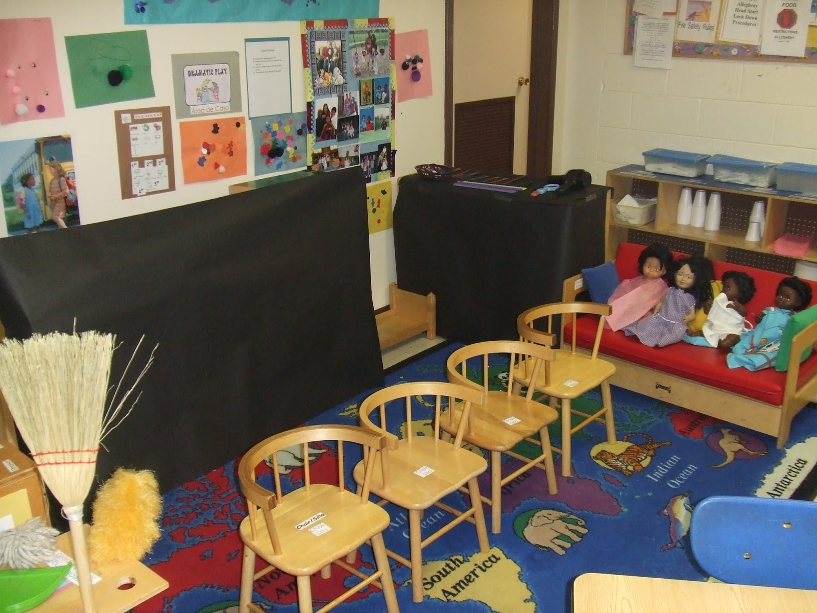 Barber Shop In The Area : Here is the barber shop we set up in dramatic play area. As you can ...