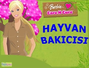 Barbie Hayvan Bakıcısı Oyunu