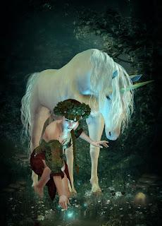 Unicornio, Hada y Luciérnagas.