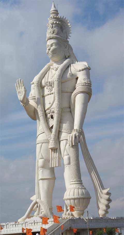 Picture of Tallest Hanuman Statue Veera Abhaya Anjaneya Hanuman Swami in Paritala Andhrapradesh
