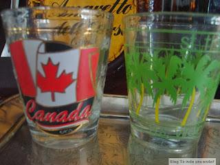 coleção de shot glasses