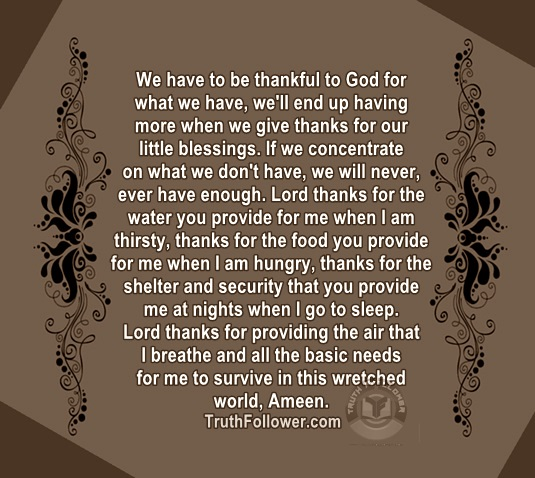 Quotes About Thankfulness | We Have To Be Thankful To God Quotes About Thankfulness