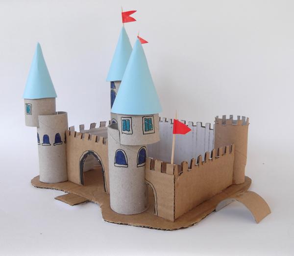 αρχιτεκτονική για παιδιά, δραστηριότητες για παιδιά, κάστρο, φρούριο, παλάτι, ρολά χαρτί υγείας, χαρτόνι,