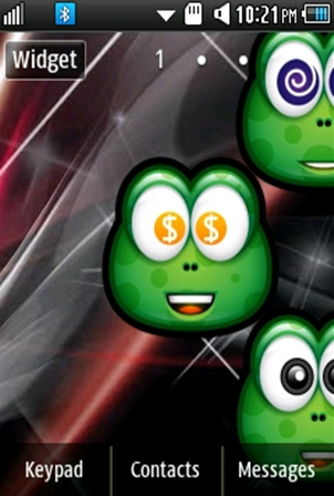 Other Cute, Green Smiley Samsung Corby 2 Theme 2 Wallpaper
