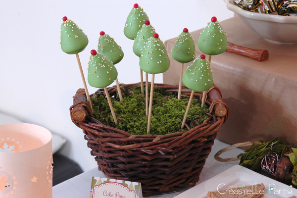 Sweet table Noël vert / Evergreen Christmas cake pops