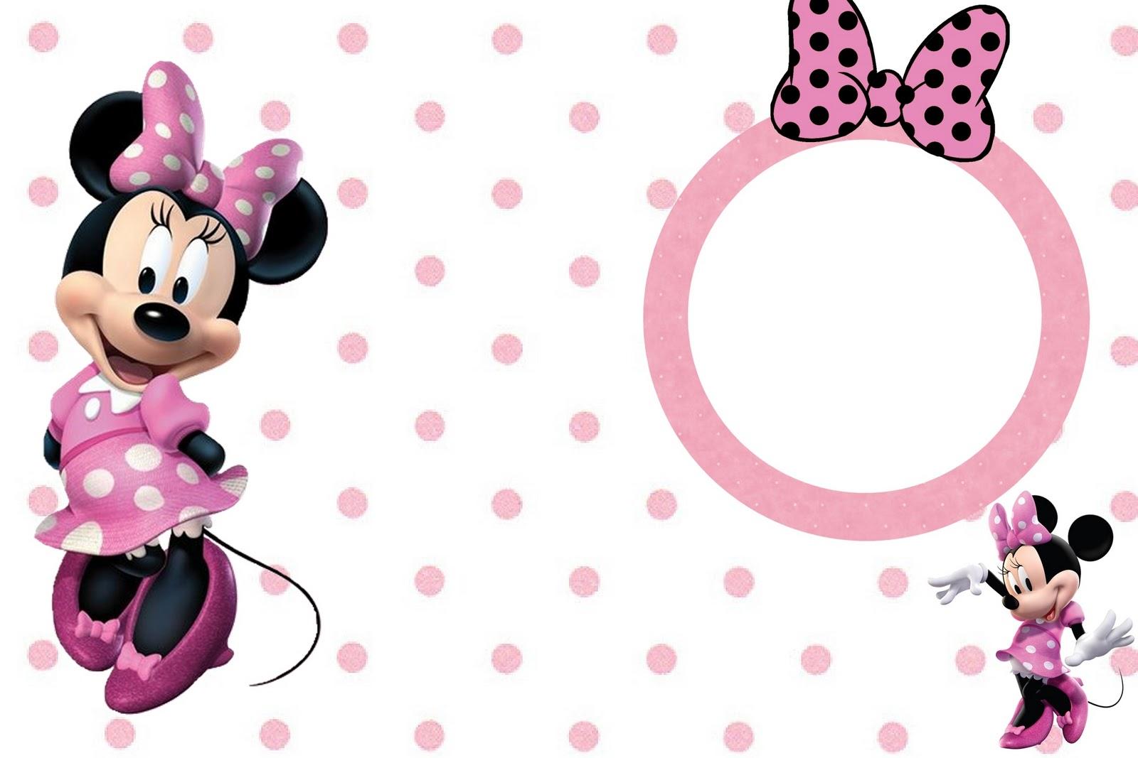 Minnie Mouse Rosa Para Imprimir