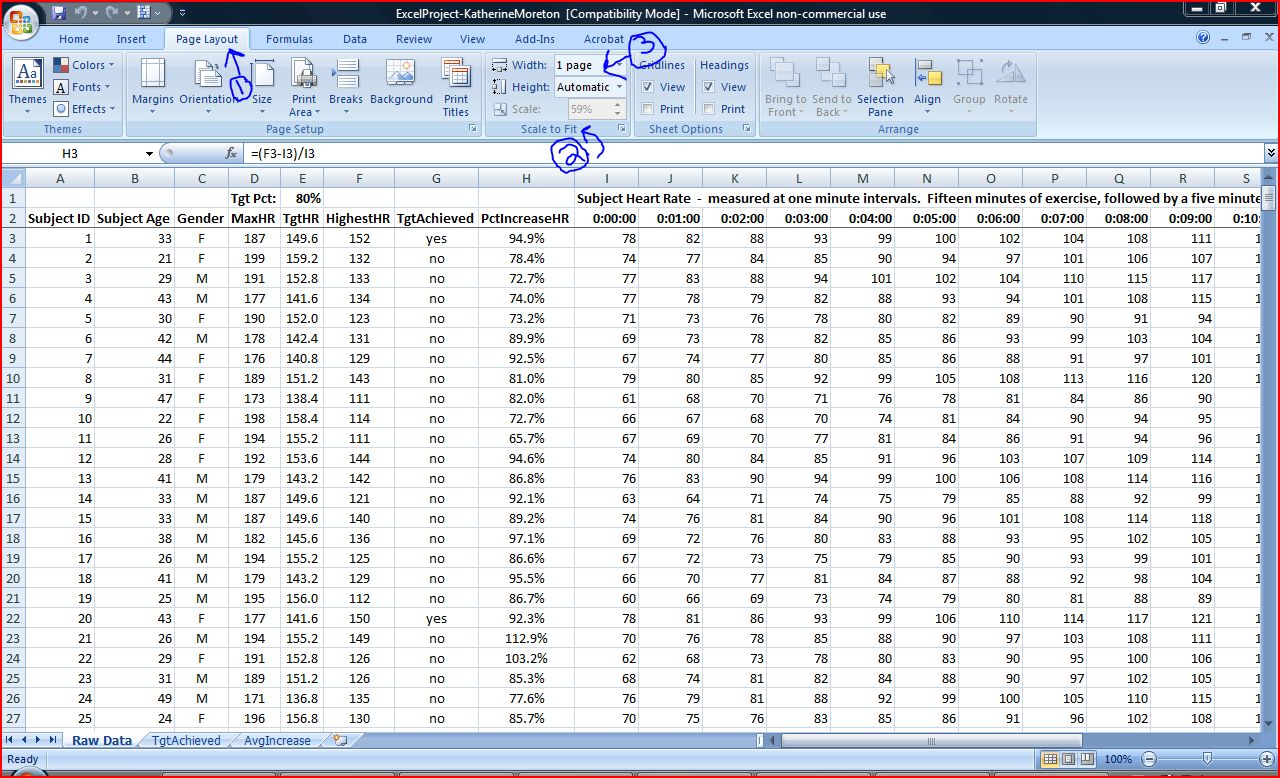 excel how to make row headings appear on every page