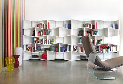 biblioteca moderna diseño