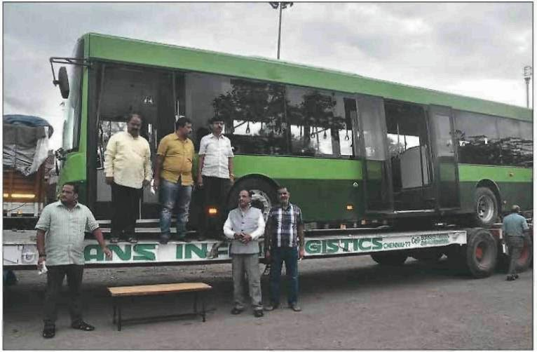 First Eco Friendly Bus in Nagpur From Sweden