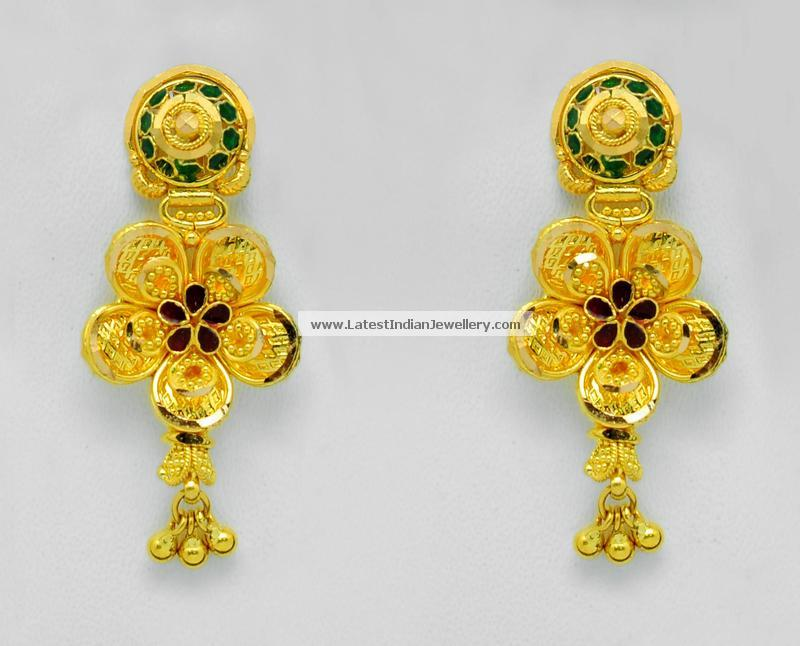 Awesome Simple Gold Earrings Designs for Daily Use | Jewellry\'s Website