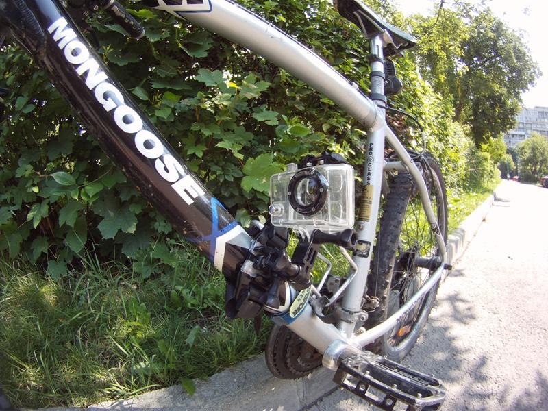 Gopro Bike Mount Improvisation Using Only The Helmet Mount
