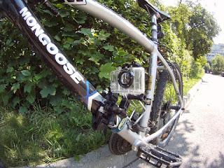 GoPro Bike Mount Improvisation on Down Tube