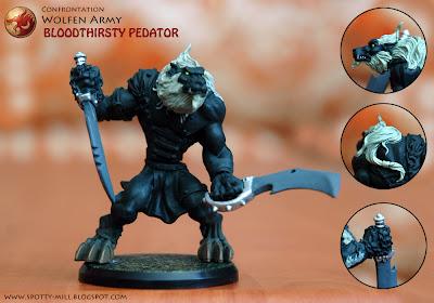 Фигурки Bloodthirsty Predator из игровой системы Confrontation: Wolfen Army