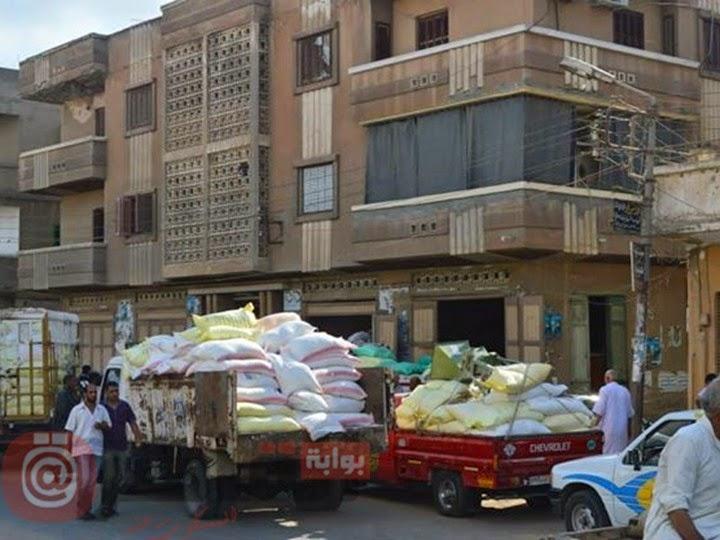 ضبط 50 طن دقيق مخلوط ببودرة السيراميك في كفر الشيخ