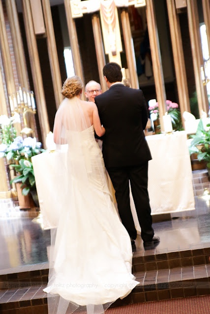 Wedding ceremony at Christ the King Catholic Church in Indianapolis