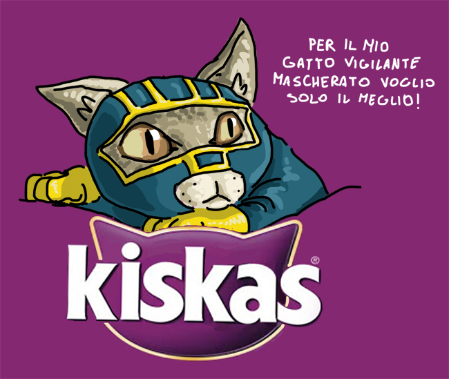 kiskas whiskas kick ass gatto mascherato