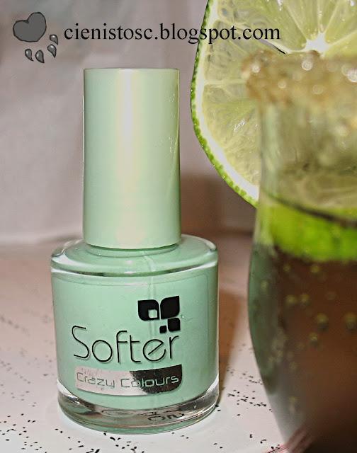 Przepis na mojito… na paznokciach – lakier Softer Crazy Colours nr 24