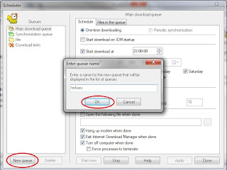 setting jadwal download di idm