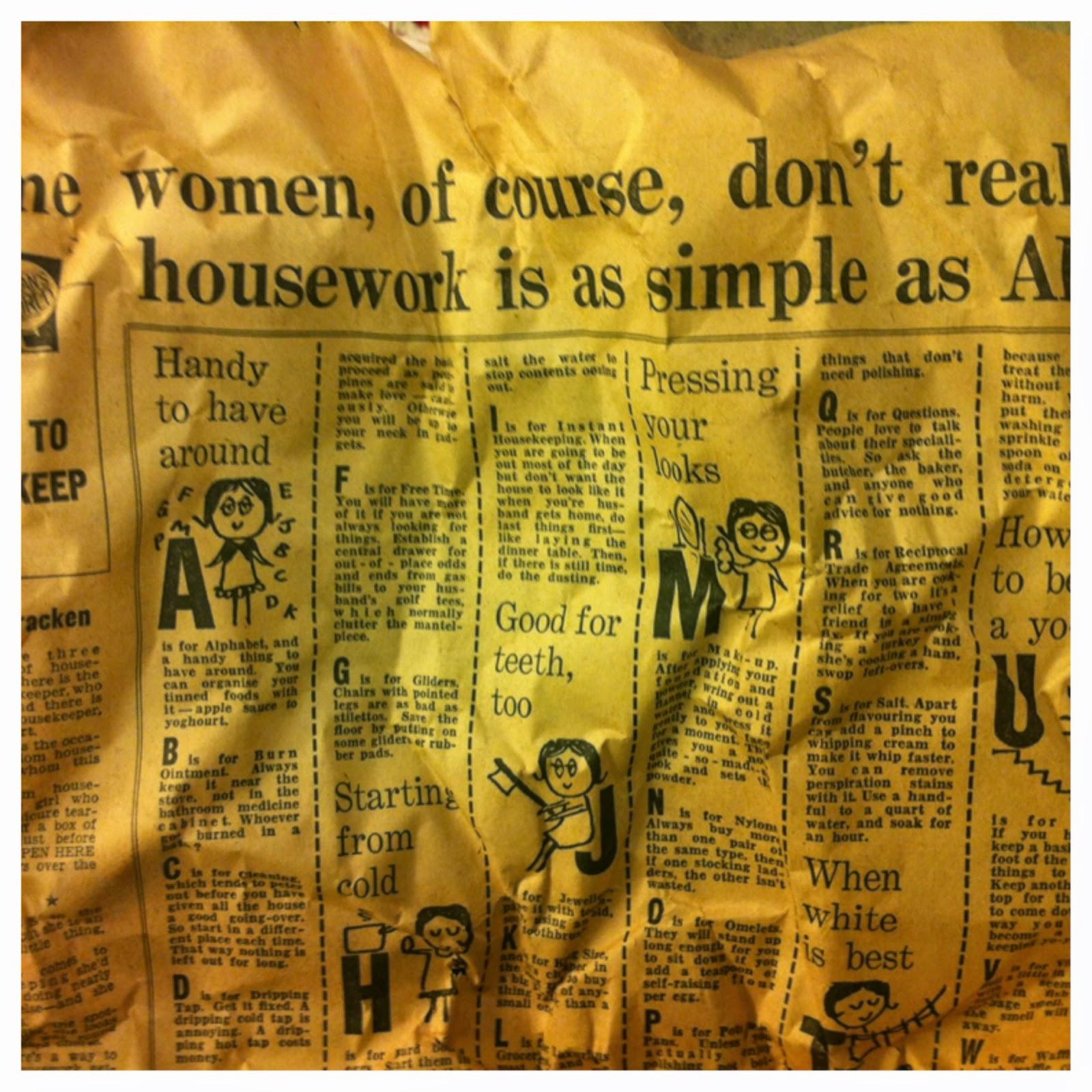 1960's newspaper