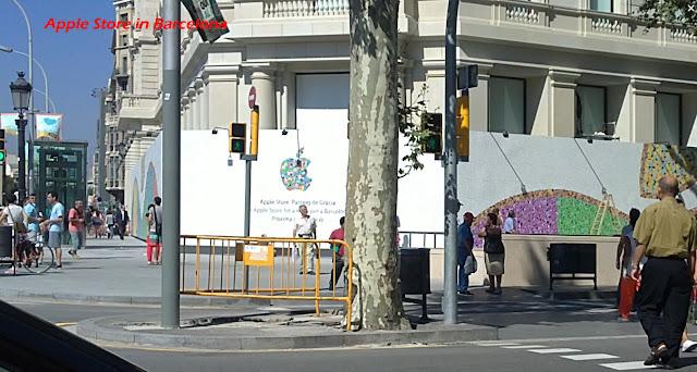 Mosaic Tiles Apple Barcelona. Trencadis para la fachada en obras del nuevo Apple Store de Barcelona