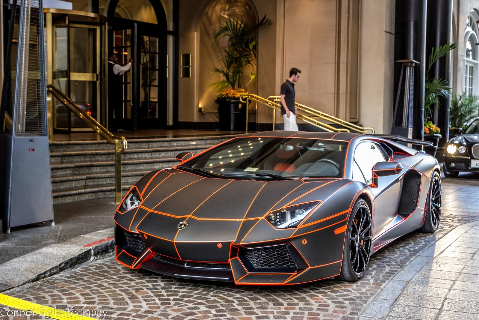 lamborghini aventador black orange tron at 99 photos 99supersports. Black Bedroom Furniture Sets. Home Design Ideas