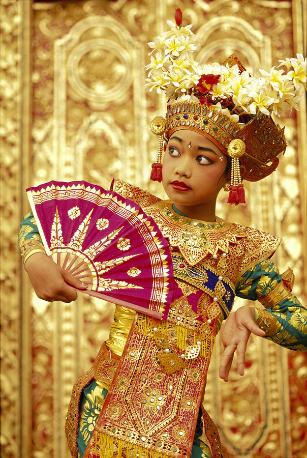 Indonesian girl Legong dancer