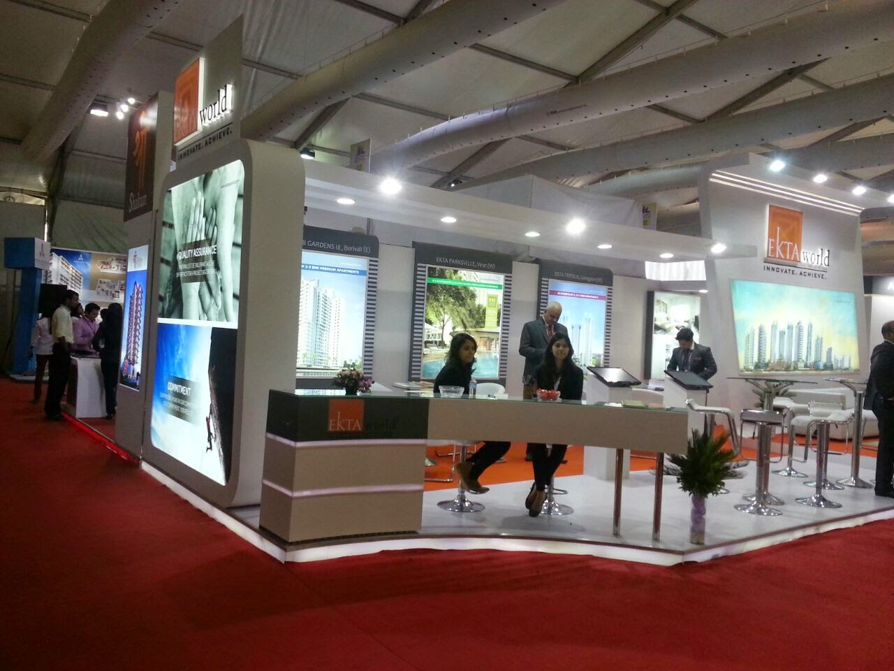 Real Estate Exhibition Stall : Pride life property exhibit sqm stall by dipesh bhovad at