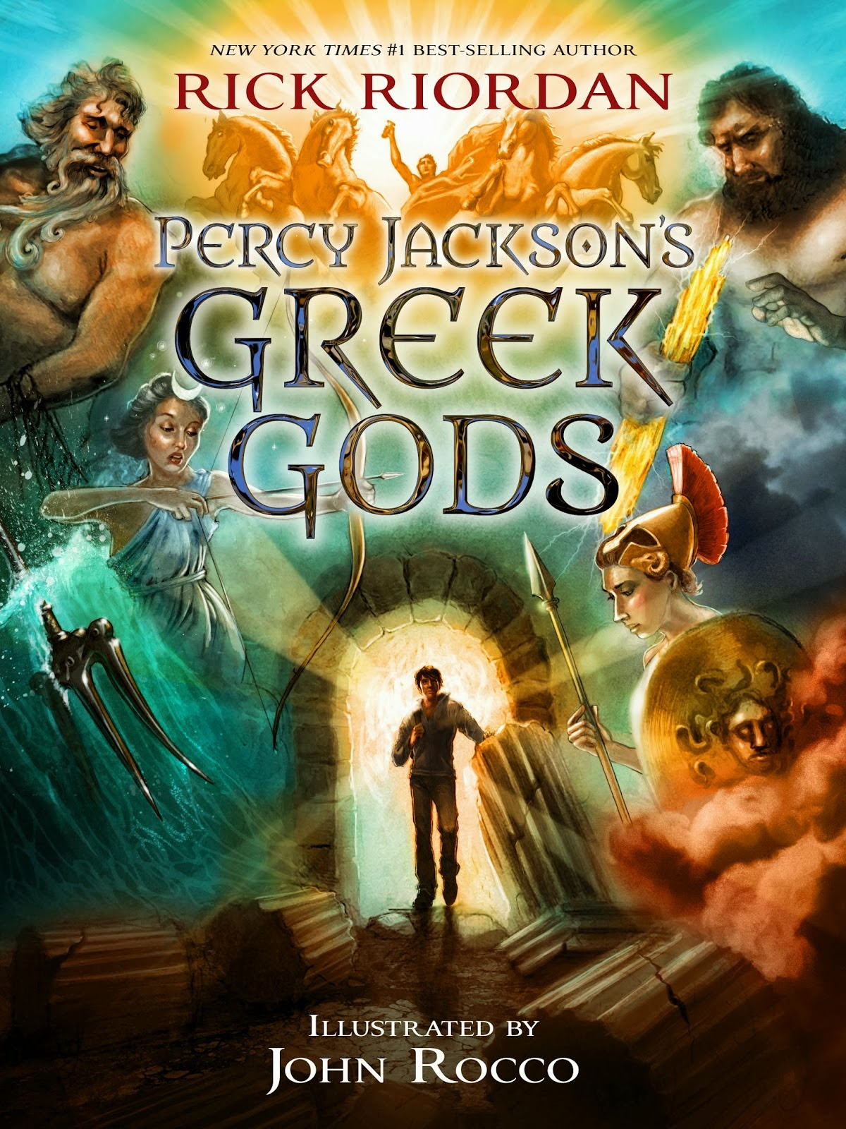 Portada estadounidense de Percy Jackson's Greek Gods