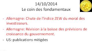 news économique actualités boursières 14/10/2014