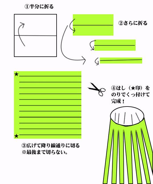 簡単 折り紙 七夕飾りの作り方折り紙 : studental.net