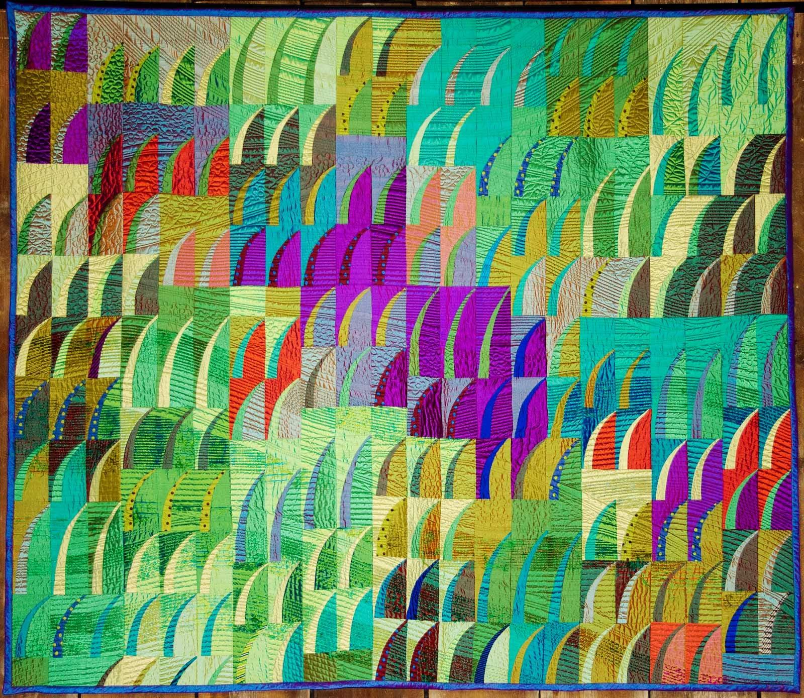 Quilt Nihon Japanese Quilt by Mikiko Misawa Thai silk