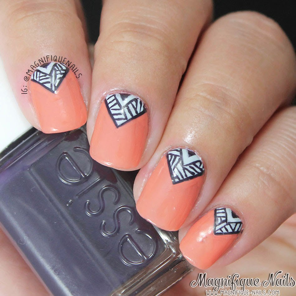 Magically Polished |Nail Art Blog|: Tribal V Nails