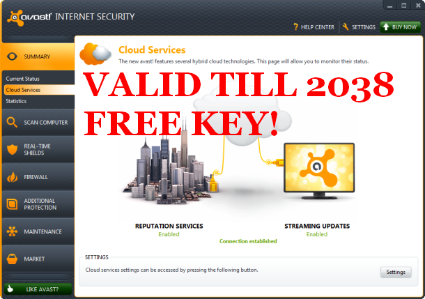 free avast registration key