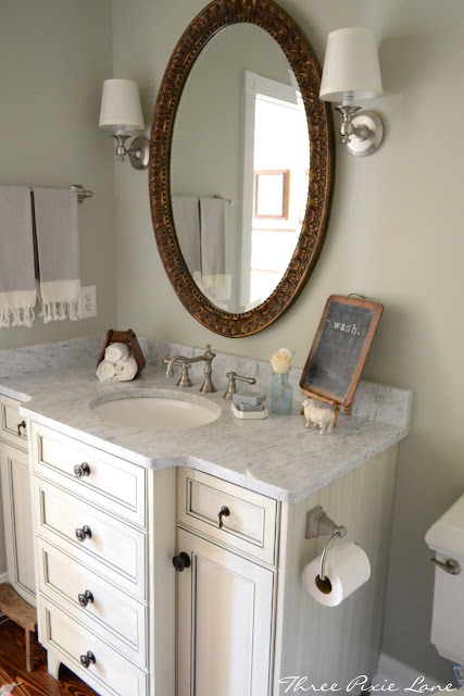 Bathroom paint color - Horizon Gray by BM