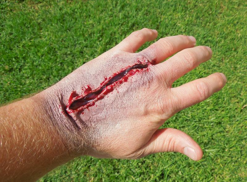 Zombie Halloween makeup scar