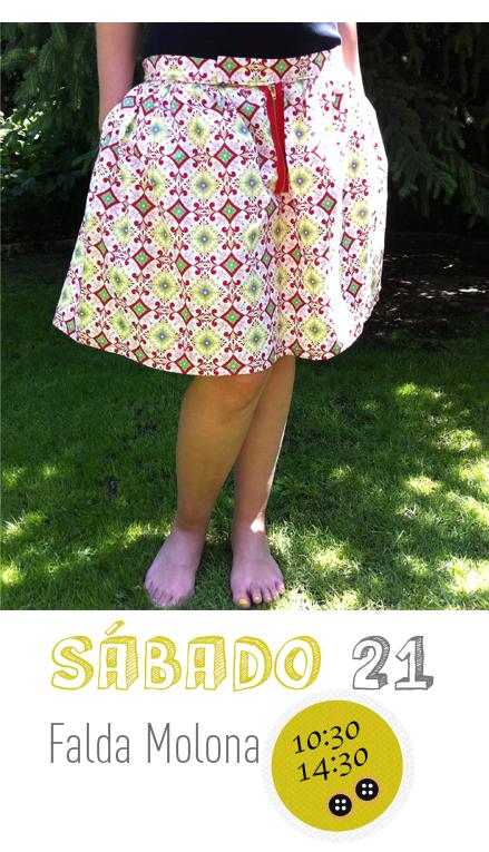 Sábado 21 Septiembre monográfico costura falda en Trapo y Tela