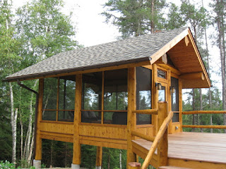 cedar screenhouse gazebo  lake home ely