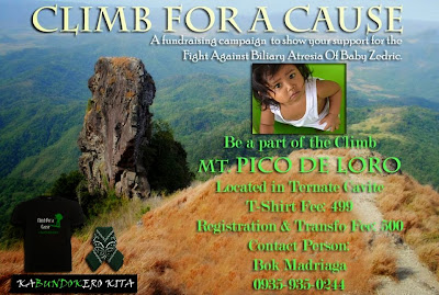 Charity Event for Baby Zedric: Climb for A Cause at Mt Pico De Loro