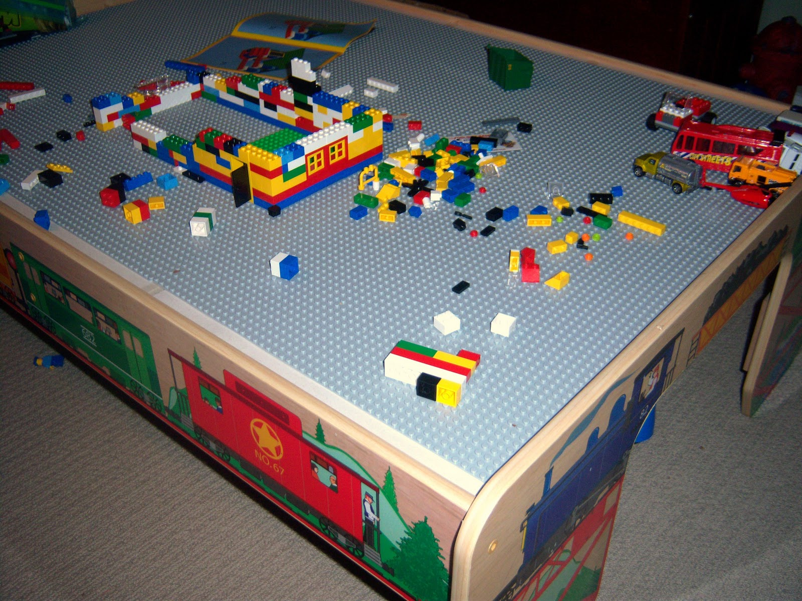 Andyu0027s Train Table Is Now A Lego Table!