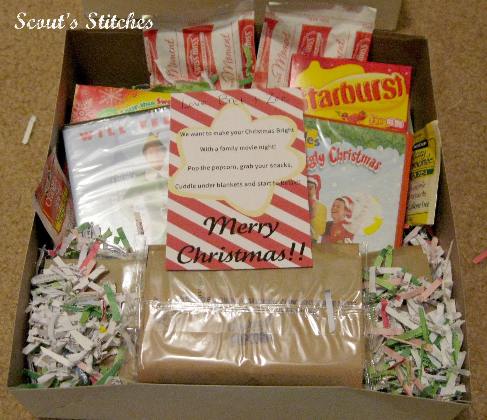 All The Joy: Movie Night Gift Basket Idea- With Printable
