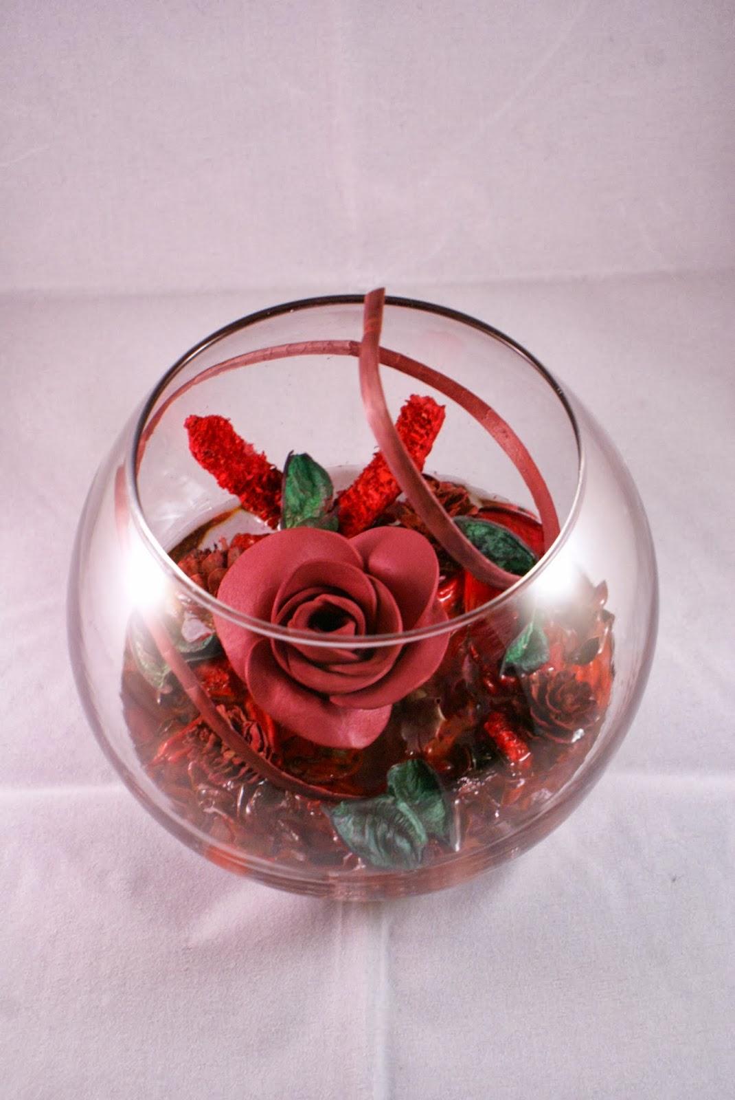 Friki fofuchas frikifofuchas pecera con flores - Centros de mesa con peceras ...