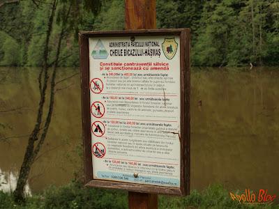 Regulament Lacul Rosu