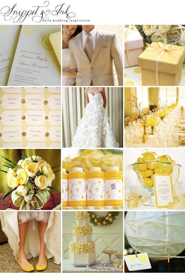 Decoração  Casamento Amarelo