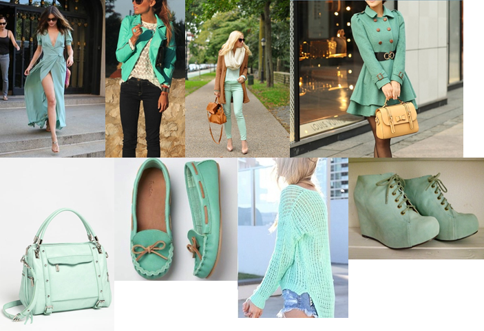 Golden Sunrays Color Trend Mint Green