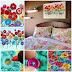 DIY Crochet Button Flower Wall Art
