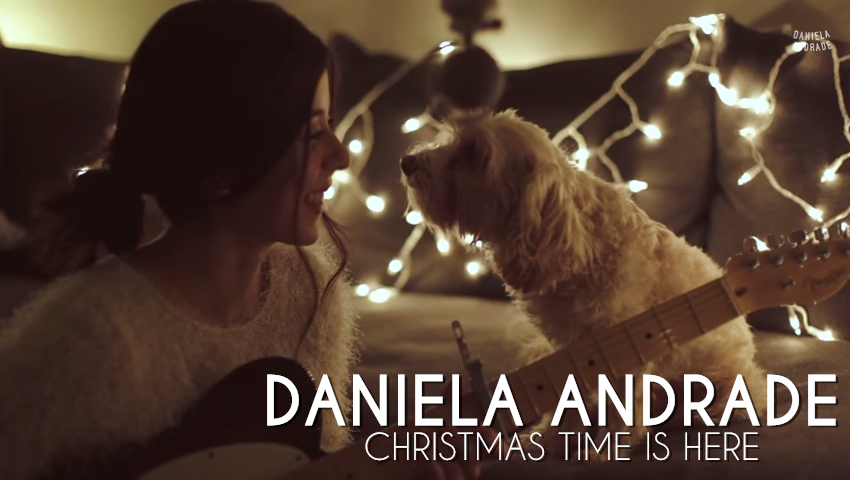 Christmas Time Is Here - Daniela Andrade ft her cute dog