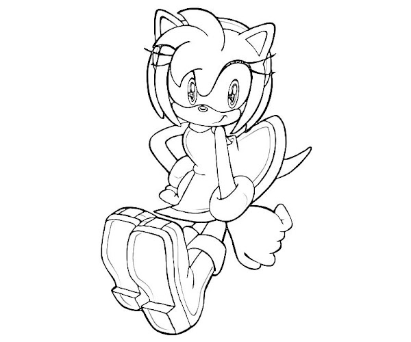 Amy Rose Coloring Pages